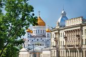 Cathedral of Christ the Savior with Kremlin Palace
