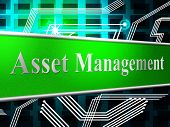 Management Asset Represents Business Assets And Goods
