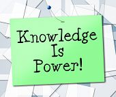 Knowledge Is Power Represents University College And Studying