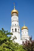 Постер, плакат: Belfry of Ivan the Great in Moscow Kremlin