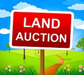 Land Auction Indicates Winning Bid And Auctioning