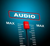 Music Audio Represents Sound Track And Technology