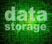 Data Storage Represents Bytes Technology And Filing