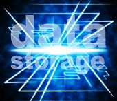 Data Storage Represents Knowledge Filing And Server
