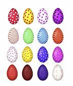 colourful easter egg vector