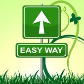 Easy Way Represents Ease Pointing And Display