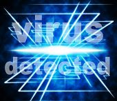 Detected Virus Indicates Found Threat And Discovered