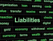 Liabilities Debts Indicates Financial Obligation And Arrears