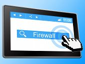 Firewall Online Indicates World Wide Web And Net