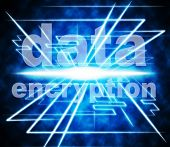 stock photo of byte  - Data Encryption Representing Protect Bytes And Password - JPG