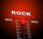 Rock And Roll Indicates Acoustic Sound And Audio