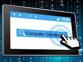 Computer Games Represents World Wide Web And Fun