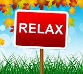 stock photo of rest-in-peace  - Relax Relaxation Showing Peace Pleasure And Relaxing - JPG