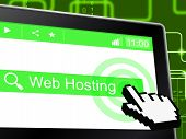 Web Hosting Means Server Webhost And Www