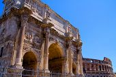 Rome Arc and colosseum