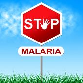 Stop Malaria Represents Stopping Danger And Warning