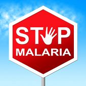 Stop Malaria Means Warning Control And Mosquitoes