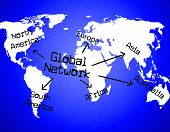 Global Network Shows Globalize Communication And Digital