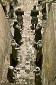 stock photo of qin dynasty  - Terracotta warriors in armor - JPG