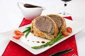 stock photo of beef wellington  - Beef Wellington  - JPG