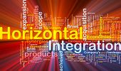 Horizontal Integration Background Concept Glowing
