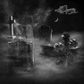 The graveyard. Elements of this image furnished by NASA