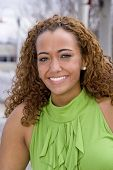 picture of african american hair styles  - A very beautiful African American woman with a big smile - JPG