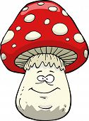 picture of hallucinogens  - Amanita on a white background vector illustration - JPG