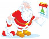 Santa Claus and a tear-off calendar