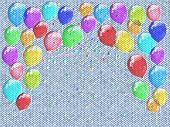 Confetti Relief Painting On Generated Knit Texture Background