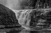 The Upper Falls At Letchworth State Park