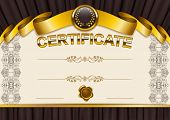 picture of certificate  - Elegant template of certificate - JPG