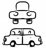 Car cartoon sketch
