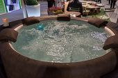 Whirlpool Bath On Display At Homi, Home International Show In Milan, Italy