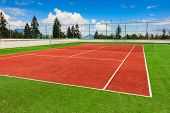 Synthetic Outdoor Tennis Court