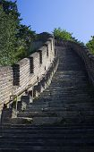 stock photo of qin dynasty  - Great Wall of China (Mutianyu section near Beijing) ** Note: Soft Focus at 100%, best at smaller sizes - JPG