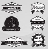 Vintage premium quality labels set. Vector design elements.