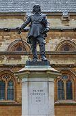 Oliver Cromwell Statue, London, Uk