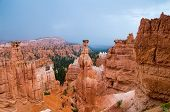 Hoodoos Of Bryce Canyon In The Rain