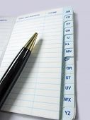 Pen and Address book, contact,telephone number notebook