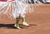 picture of native american ethnicity  - Native American dancers in traditonal rigalia perform during a Pow Wow - JPG
