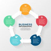 Vector circle arrows infographic. Template for diagram, graph, presentation and chart. Business conc