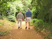Elderly men enjoying their pension
