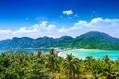Travel Vacation Background - Phi-phi Island, Thailand, Asia