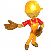 Gold Guy Construction Worker