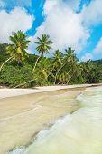 Tropical Beach Baie Lazare At Island Mahe, Seychelles