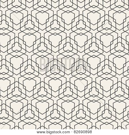 Vector Modern Pattern. Black Techno Repeating Texture. Geometric Pattern Background. Rhombus and Lin