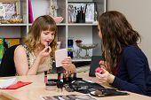 Makeup Artist Tells The Girl As Lipstick