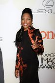 LOS ANGELES - FEB 6:  Michel'le at the 46th NAACP Image Awards Arrivals at a Pasadena Convention Center on February 6, 2015 in Pasadena, CA