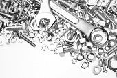 picture of bolt  - Wrenches on nuts and bolts - JPG